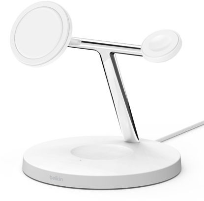 Зображення Belkin MagSafe iPhone 12 3in1 Wireless Charger [white]